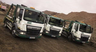 Skip Loaders on Site