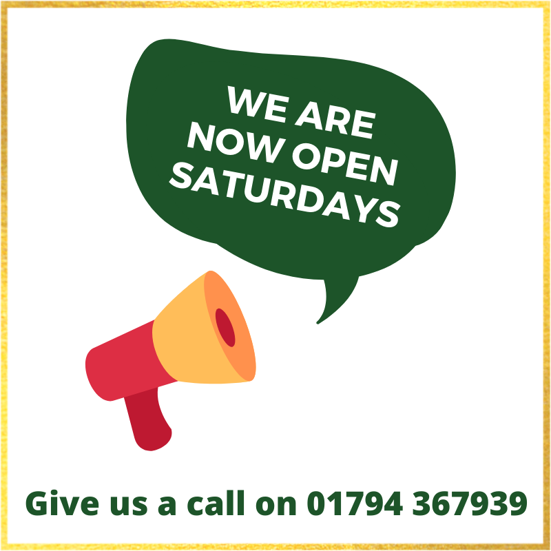 We are open saturdays 2
